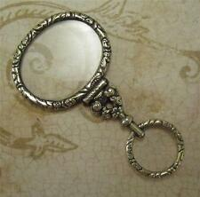 Antique Small Engraved Sheet Gold Magnifying Glass Early 19th c