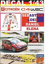 DECAL 1/43 CITROEN C4 WRC S.LOEB R. DEUTSCHLAND 2007 WINNER (01)