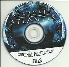STARGATE ATLANTIS ORIGINAL PRODUCTION COMPUTER GRAPHIC FILES PROP * FREE SHIP