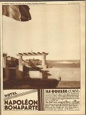 20 ILE-ROUSSE LA RADE VUE DE L'HOTEL NAPOLEON PUBLICITE 1932