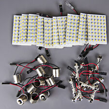 10x Warm White LED 48-SMD Panel Interior Dome Map 12V Light+ Festoon+BA15S 1156