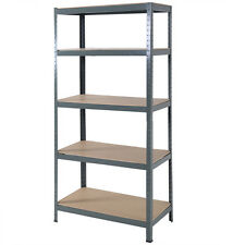 "Heavy Duty Steel 72""  5 Level Garage Shelf Metal Storage Adjustable Shelves Unit"