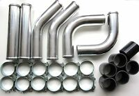"Universal Pipework Kit 57mm (2.25"") for Front Mount Intercooler (FMIC) - BLACK"