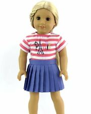 """Paris skirt set 18"""" doll clothes fits American Girl AG"""