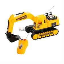 Remote Control Simulation Excavator Digger Car Construction Truck Toy Kids Gift