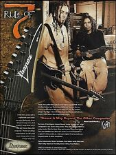 Korn Munky & Head for Ibanez RG 7-string neck guitar ad 8 x 11 advertisement