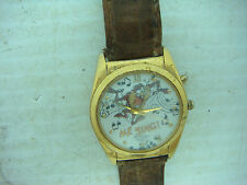 VINTAGE AMITRON MUSICAL TAZ QUARTZ WRISTWATCH  LOONEY TUNES COLLECTIBLE