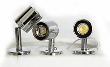 LAP LED High Powered Under Cabinet Adjustable Chrome Spotlight Mood Lighting 3Pk