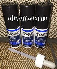 * NEW Men's Rogaine Topical Solution 3 Month Supply 2 oz Bottles + Dropper 2018