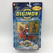 "DIGIMON Digivolving FLAMEDRAMON New 6"" Trading Card Factory Sealed 2001 #13346"