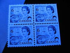 CANADA Unitrade 460ii MNH hibrite edge block of 4, check it out!