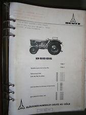 DEUTZ tracteur D6006 6006 : catalogue de pièces