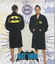 Batman Costume Adult Cotton Velour Toweling Bath Robe, NEW UNWORN