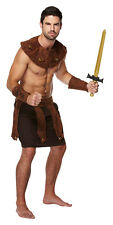 MENS GREEK ROMAN SOLDIER GLADIATOR COSTUME FANCY DRESS SPARTACUS OUTFIT NEW