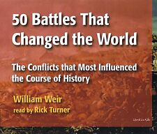 50 Battles That Changed the World - W. Weir (LL197) - 4 CD - New - FREE SHIPPING
