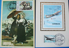 CARTE MAXIMUM-PREMIER JOUR-AIRBUS 1973+JOURNEE DU TIMBRE 1981