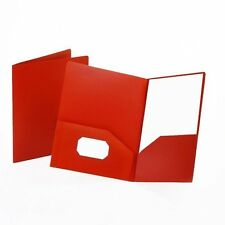 Esselte 57581 Twin Pocket Portfolios, Letter Sz, Red, 10/Pk ~ Free Shipping