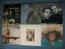 4 Simon & Garfunkel LPs +2 Paul Simon Solo LPs= Vinyl Lot 6 Records VG condition