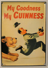 GUINNESS ZOOKEEPER LION MINI TIN SIGN