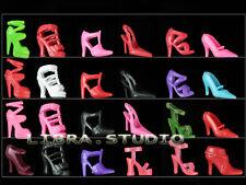 60 Paires Chaussures poupée Mode Haut Talon Mixed Shoes pour Barbie poupée