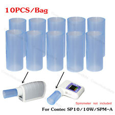 10PCS REUSABLE PLASTIC PIPE MOUTH PIECE MOUTH TUBE FOR Spirometer SP10 SPM-A