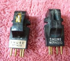 pair 2 Shure M7 cartridge s. Original box, 1 N21D Stylus, for the collector. US