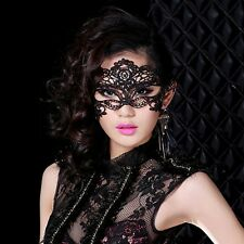 Sexy Black Lace Venetian Mask Masquerade Ball Prom Halloween Costume Fancy