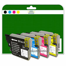 4 Ink Cartridges for Brother DCP 377CW 383C 385C 387C 395CN non-OEM LC980
