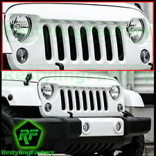 07-17 Jeep JK Wrangler Bright White Angry Bird Replacement Grille Shell Rubicon