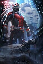 Ant-Man (2015) Movie Poster (24x36) - Paul Rudd, Evangeline Lilly, Atwell NEW