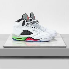 Nike Air Jordan 5 Retro 136027-115 White/Infrared 23-Poison Green Mens Size 11.5