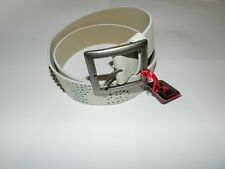 Playboy studded and perforated PLAYBOY belt and buckle NEW Small