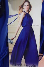 1464 ALFRED ANGELO 7302 SZ 12 MED BLUE $202 BRIDESMAID PROM FORMAL GOWN DRESS