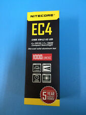 NiteCore EC4 CREE XM-L2 U2 Die-cast solid aluminum bar 1000Lumens LED Flashlight