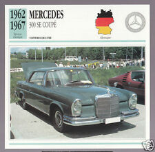 1962-1967 Mercedes 300 SE Coupe (Benz) Car Photo French Card 1963 1964 1965 1966