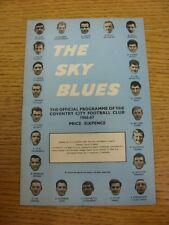 15/10/1966 Coventry City v Blackburn Rovers  (Light Crease). Thanks for taking t