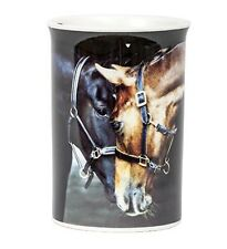 Country Matters Old Friends design 2 Horses Nuzzling Fine Bone China Mug in Box
