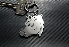 WILD BOAR Sanglier Chasse Hunting Swine Pig Animal Keyring Keychain Key Fob Gift
