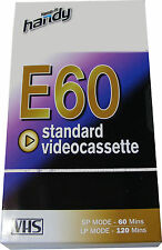 1 x 1 HOUR HANDY VHS E60 BLANK VIDEO VCR TAPE CASSETTE - NEW