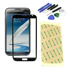 Replacement Screen Glass Lens+Tool Kit For Samsung Galaxy Note2 II N7100 Black