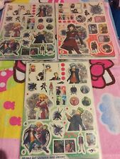 "New! Three Japan 8"" Vinyl Sticker Sheets! Character Design Cute Anime Nice!"