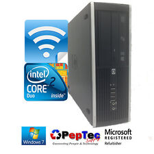 HP 8000 Elite Core 2 Duo 3.0GHz Desktop Computer 4GB 250GB Win 7 Pro WiFi