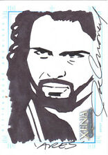 Xena Corroney Ares sketch card hand drawn signed on the right SketchaFEX
