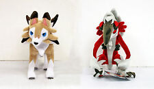 (2 SET) Pokemon Center Original Plush Doll Lycanroc Midday & Midnight