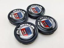 Black Center Caps Size 56mm. Logo Emblem Alpina Parts Car Wheel Racing Cover Rim