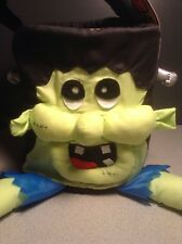 NEW Trick or Treat Halloween Bag Cute Frankenstein Fabric Carrying Figural Tote