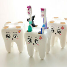 Cute Cartoon Style 4-Hole Bracket Tooth Style Toothbrush Holder for Bathroom