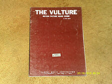 "THE VULTURE ""Motion Picture Music Score""  in 12 parts 1968 22 pages (VG+ shape)"