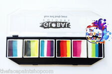Global Colours Rainbow Splash Funstroke Face Paint Palette