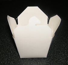 Small Take Away Noodle Box with Wire Handles / Wedding Favour x 12